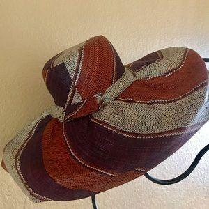 Wide Brim Classy Earth Tone Straw Sun Hat